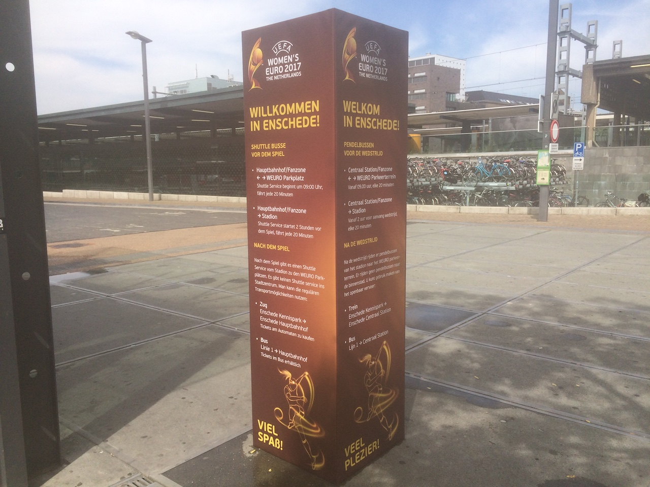 Informatiezuil en bewegwijzering voor city event Enschede